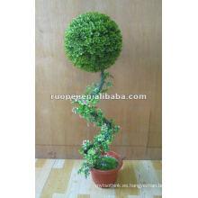 Bonsais artificiales de la bola de la hierba para la decoración del jardín, planta artificial