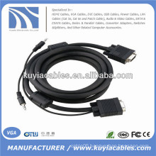 15PIN VGA Cable with 3.5mm Audio For PC TV