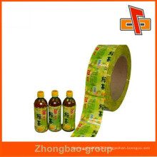 Gravure printing plastic PVC shrink label roll for bottle drink packaging