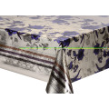 Doble cara en relieve impreso oro plata mantel Dallas