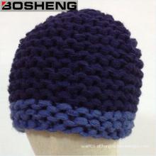 Moda homens Royalblue Crochet malha Hat Beanie inverno