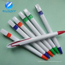Pluma de bola plástica de la pluma de bola plástica del regalo promocional con el logotipo