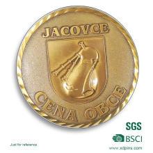 Monedas de recuerdo de bronce con borde de diamante