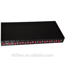 24 pólos de núcleo FC montagem de fibra patch panel / caixa de terminação