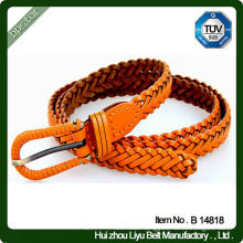 genuine leather belt for women knitted braided skinny fashion
