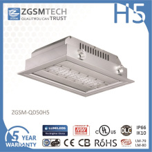 IP66 Waterproof 50 Watt LED Gas Station Light High Brightness