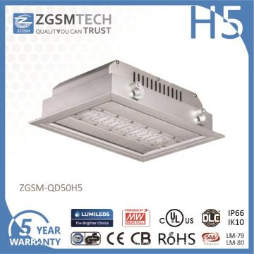 IP66 Waterproof o brilho alto da luz do posto de gasolina do diodo emissor de luz de 50 watts