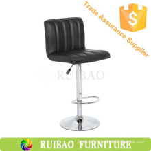 Huzhou Ruibao Modern Design General Use Bar Chair Bar Stool Black Leather