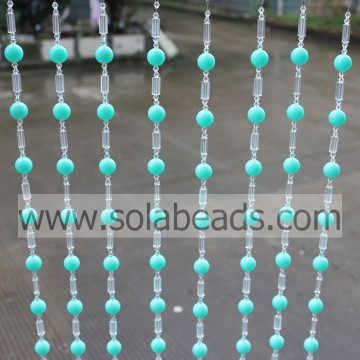Curtain Trimming 18MM&18MM&6MM Wire Crystal Plastic Beading Garland String