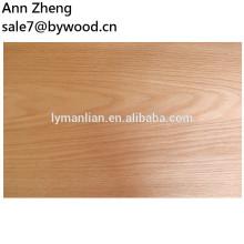 Chapa barata 2018 Chapa de madera natural de roble rojo para muebles