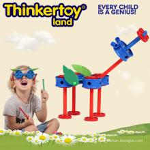 Brinquedo educativo de plástico para crianças blocos de construção