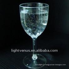 Verre à vin rouge en plastique transparent en cristal
