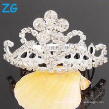 Venta al por mayor peine de pelo Rhinestone barrette francés pinzas de pelo para las niñas peine de la boda tiara