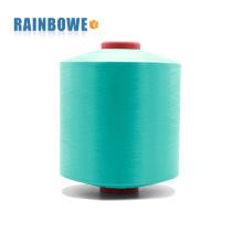 preço de fábrica 3075 / 72F 100% poliéster ar coberto spandex fio
