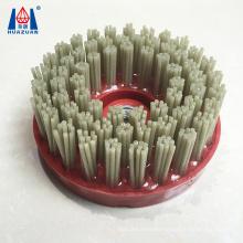 Diamond round brush wire brush for stone polishing efficiency