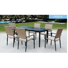 Garden Outdoor Rattan Dining Set Leisure Furniture