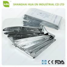 Papel de aluminio de primeros auxilios, manta térmica fría
