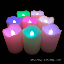Color-Changing Real Wax LED Pillar Candles