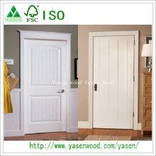 Porte en bois composite blanche à panneau design