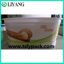 Diseño personalizado, Iml para caja de mantequilla plástica