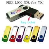 Free Logo 16MB-128GB Metal Swivel USB Flash Drive
