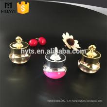5g 10g nouveau style couronne forme fantaisie acrylique cosmétique pot