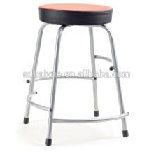 2017 asiento redondo de diseño moderno silla de cuero rojo
