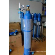 Cylindre de gaz d'oxygène médical à alliage d'aluminium, gaz d'oxygène