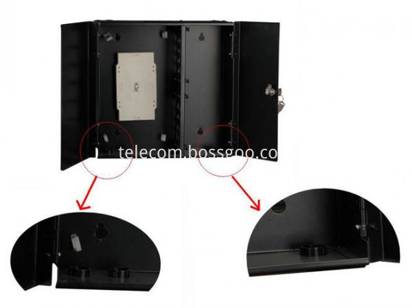 double_door_wall_mounted_fiber_optic_termination_box_with_key_12_48_72_core