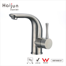 Haijun China Factory Stainless Steel Drinking Water Single Handle Basin Faucet