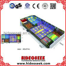 Fabricante de alta calidad del trampolín de interior de China de gran tamaño