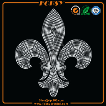 Bottom price for Fleur De Lis Applique Fleur De Lis rhinestone transfer export to Wallis And Futuna Islands Manufacturer