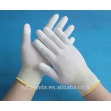 13 gauge nylon gloves coated with pu top fingers