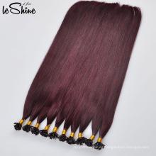 Extensión de pelo de la queratina de punta plana de Remy del 100% de la más alta calidad vendedora