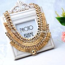2017 Mode accessoires OEM design mode collier en alliage métallique colliers diamant