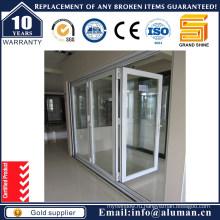 Двери алюминиевые раздвижные складные