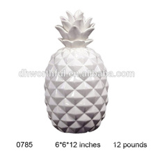 White ceramic pineapples wholesale
