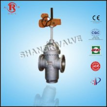 Anti-explosion electric flat gate valve assembly