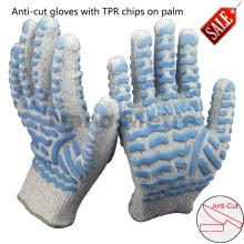 NMSAFETY 13 gauge anti-cut tpr gloves guantes de trabajo resistentes a los choques