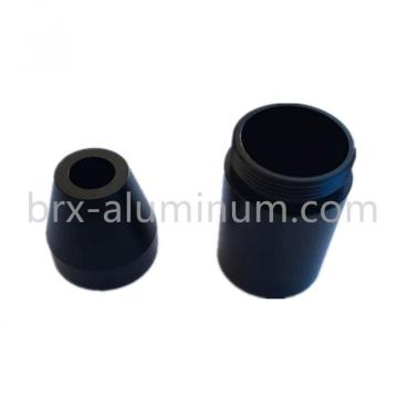 Black Hard-anodizing aluminum part