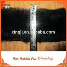 Para tiras de pele de vestuário / Rex Rabbit Fur Trimming