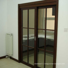 Wooden Glazed kitchen sliding door