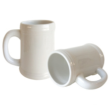 Promotional custom printing sublimation beer mug ceramic beer mug