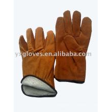 Guante de invierno con guantes de cuero completo
