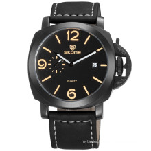 fashion leather watch big case watch/famous style watch