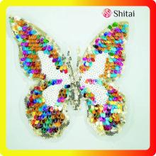 Patch di farfalle colorate con paillettes