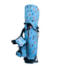 Sacs de golf avec support en nylon bleu