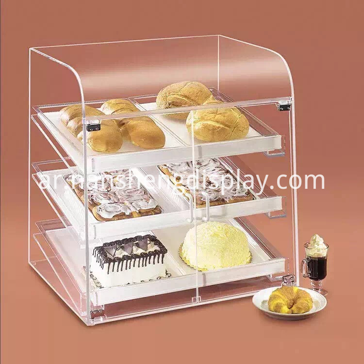 3 tier acrylic display case