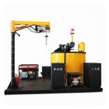 Máquina selladora de asfalto para rellenar grietas y pavimentar