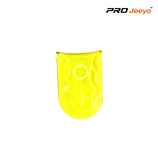 Reflective Pvc Yellow Led Light Magnetic Clip For Bagscj Pvc003